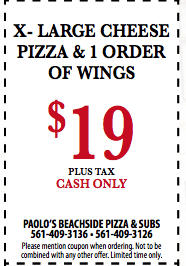 $10 Off Any X-Large Cheese Pizza